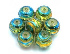 Koraliki malowane szklane 10mm kule kula