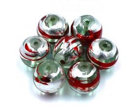 Koraliki malowane szklane 10mm kule