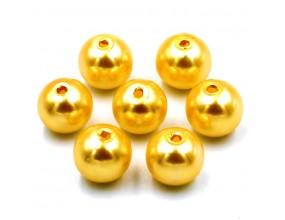 PERŁY SZKLANE perła szklana 8mm złote 14szt