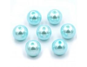 PERŁY SZKLANE perła szklana 8mm błękitne 14szt