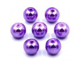 PERŁY SZKLANE perła szklana 8mm fioletowy 14szt