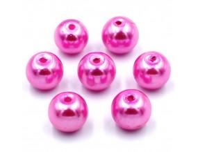 PERŁY SZKLANE perła szklana 8mm różowy 14szt