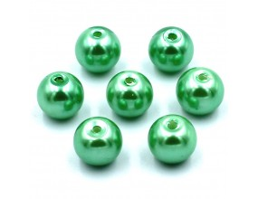 PERŁY SZKLANE perła szklana 8mm zielone 14szt
