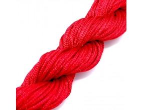 Sznurek nylonowy do shamballa czerwony