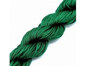 Sznurek nylonowy do shamballa zielony ciemny