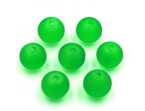 Koraliki MROŻONE SZKLANE 8mm zielone 14szt