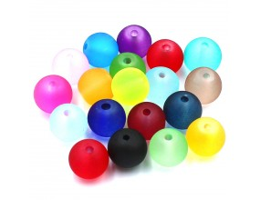 Koraliki MROŻONE Szklane 8mm mix kolorów 20 sztuk