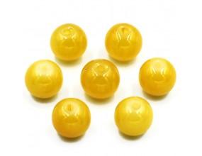 KORALIKI SZKLANE JADEITOWE 8mm żółty ciemny