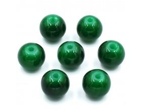 KORALIKI SZKLANE JADEITOWE 8mm zielony