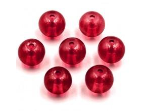 Koraliki szklane gwiezdny pył 8mm czerwony