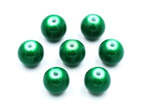 Koraliki szklane powlekane 8mm zielone 14szt