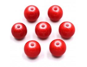Koraliki szklane powlekane 8mm czerwone 14szt