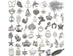 Zawieszki charms metal mix 200 elementów