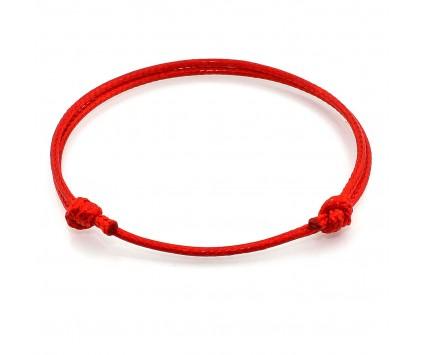 BRANSOLETKA czerwona Kabała Kabbalah sznurkowa