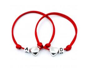 Komplet bransoletka dla par serce Walentynki imię