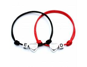 Komplet bransoletki dla par imię napis Walentynki