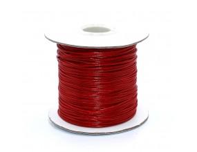 Sznurek Jubilerski powlekany SNAKE 1mm 2m Czerwony