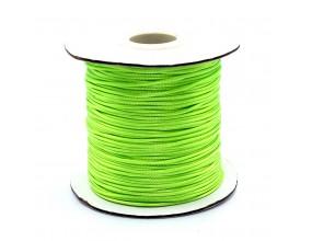 Sznurek Jubilerski powlekany SNAKE 1mm 2m Zielony neonowy