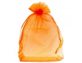 Organza woreczek z ogranzy 14x9 Święta 1szt Pomarańczowy