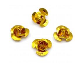Koraliki różyczki aluminiowe złote