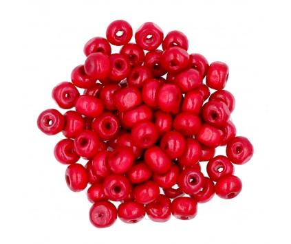 Koraliki Drewniane Kula Drewno Czerwone 6mm 50szt