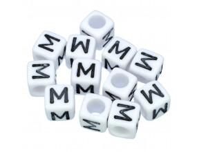LITERA M - koraliki MODUŁOWE literki ALFABET 20szt