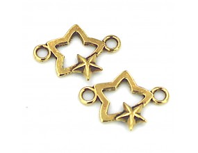 łącznik do bransoletek gwiazdka, złoty