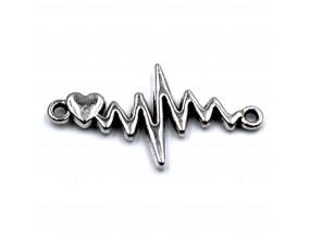 Łącznik Metalowy Serce Bicie Serca 31x17mm 1szt