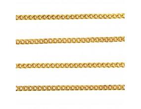 Łańcuszek do biżuterii 1,5x2x0,5mm 1metr k. złoty