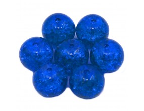 Koraliki szklane crackle 10mm 10szt granatowe