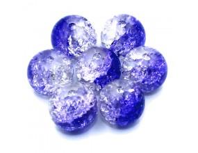 Koraliki szklane crackle 10mm 10szt czarno-przezroczyste
