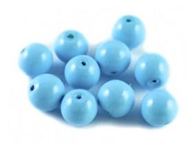 Koraliki szklane powlekane 8mm niebieskie 20szt