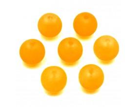 Koraliki mrożone szklane 8mm 20szt pomarańczowe neonowe