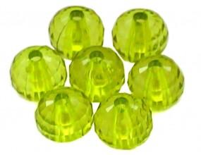 KORALIKI KULE SZLIFOWANE akryl 10mm zielone 10szt